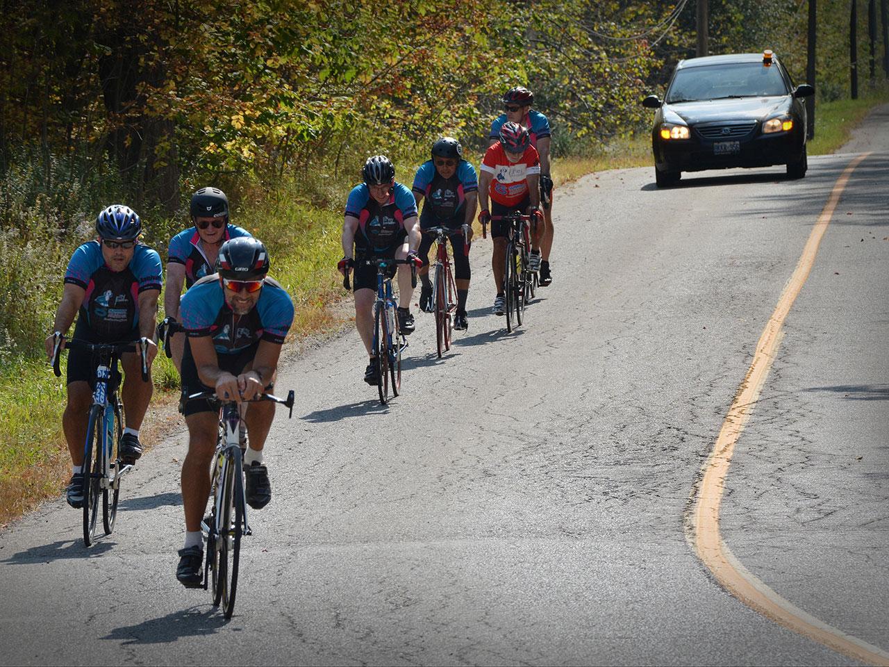 Ride for Farley charity bike ride in Milton, Halton, Ontario