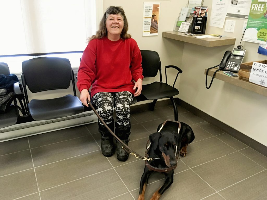 The Farley Foundation charity helped pay for the vet care of guide dog in Stratford, Ontario.