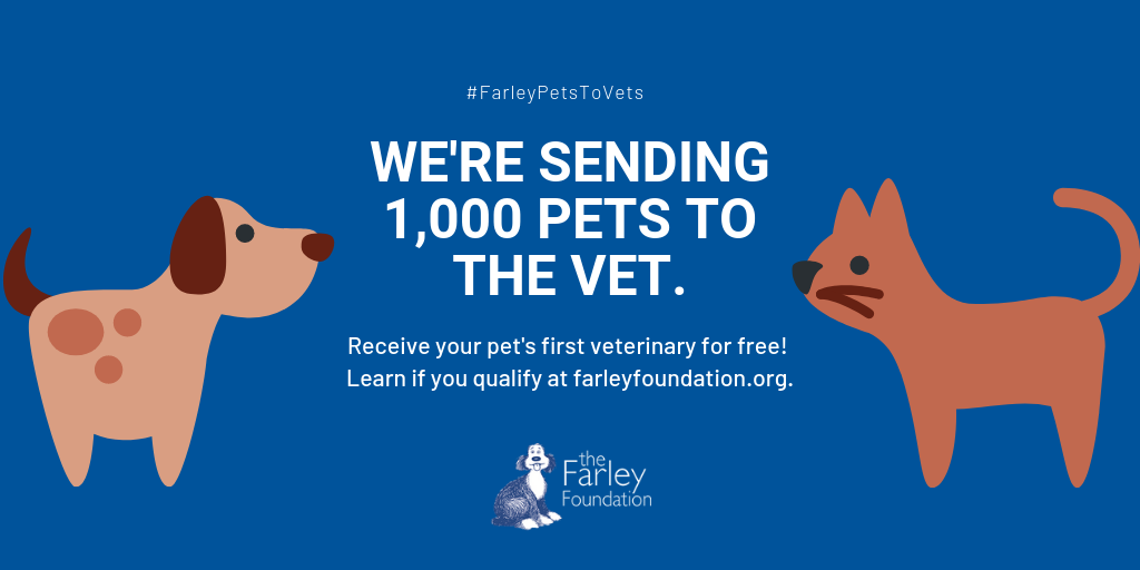 Farley Foundation Pets to Vets campaign